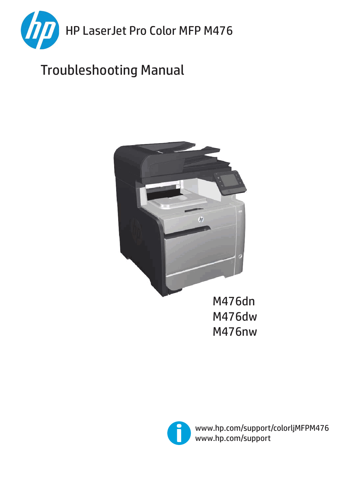 HP ColorLaserJet Pro-MFP M476 dn dw nw Troubleshooting Manual PDF download-1